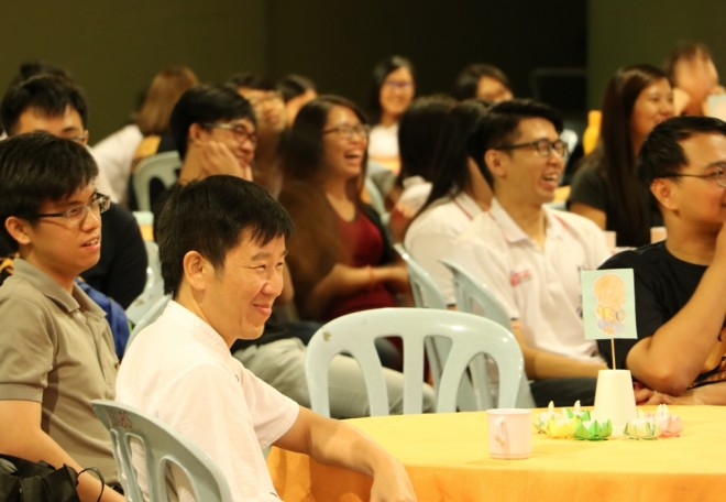 The audience amused by a funny sketch put up by members of PBUPM.
