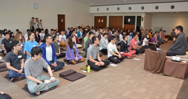 Meditation retreat for youths at Nalanda Centre.