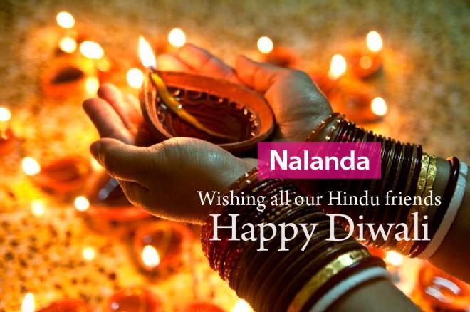 'Diwali' greetings from Nalanda, 2016.