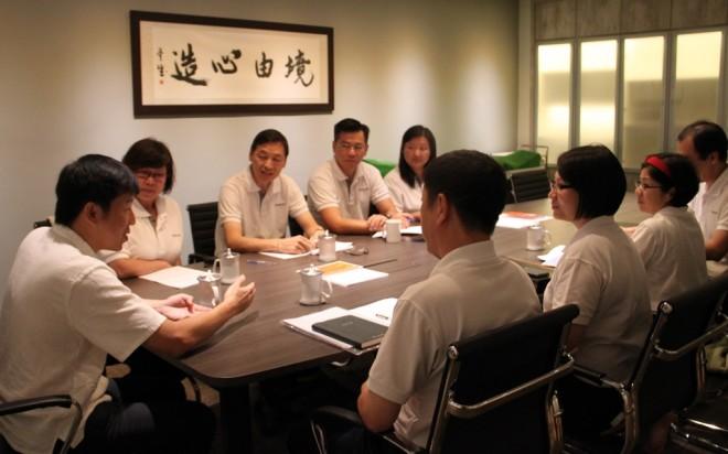 Bro. Tan meeting with Nalanda EXCO Members.