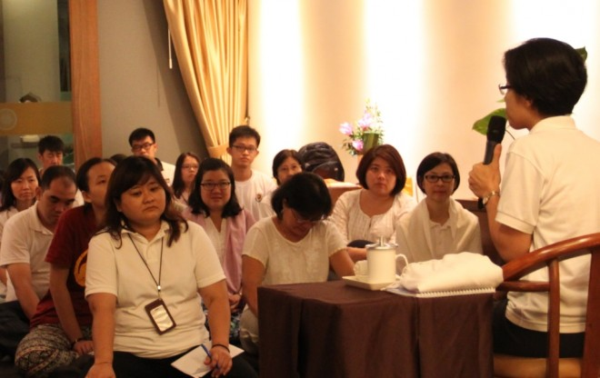 Dhamma sharing by Sis. Sandy Lim.