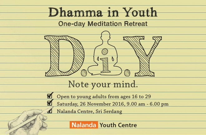 One-day meditation retreat guided by Bro Tan.