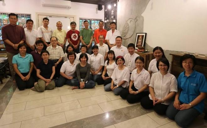 Nalanda leaders attending the retreat.