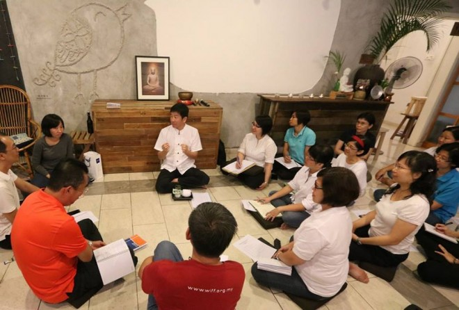Sharing points on Dhamma.