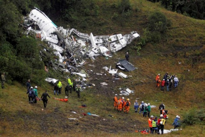 Air-crash in Colombia.