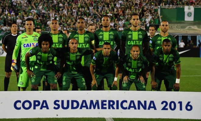 The ill-fated Brazilian football team 'Chapecoense'.