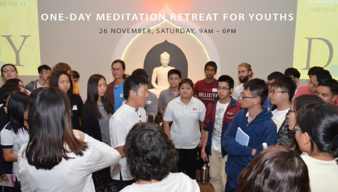 Dhamma-in-Youth Meditation Retreat in November 2016.