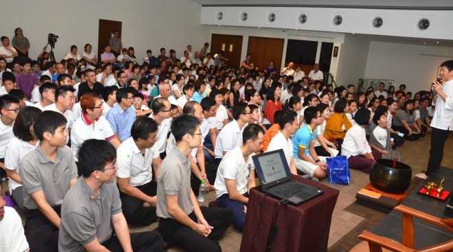 Bro. Tan spoke about the meaning of 'Sangha'.