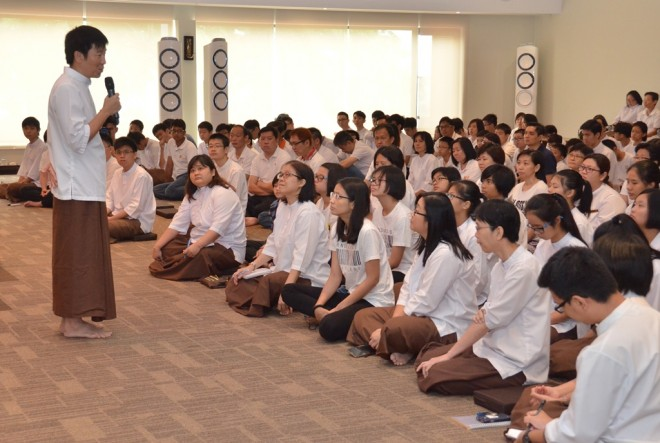 Bro. Tan recollecting the leadership qualities of the late Ven. Dr. K. Sri Dhammananda.