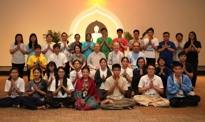 The retreat participants together with their instructors.