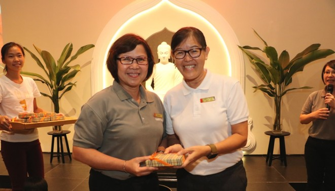A special momento for Free School Principal Sis. Lee.