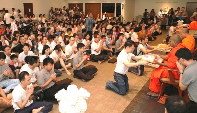 A record number of devotees took part in this year's 'Sangha Day' celebrations.