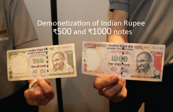 Samples of the two notes are shown in the photograph.