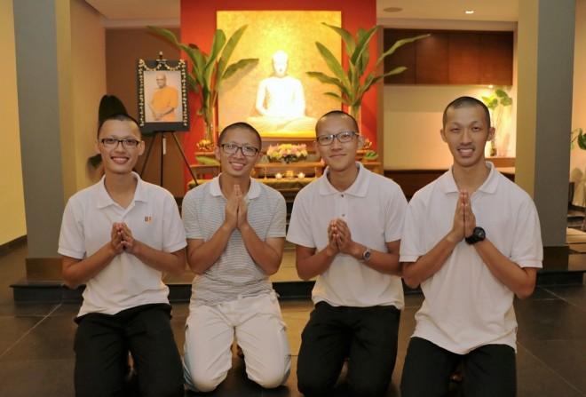 Ajita, Zhen Shun, Kuan Yi and Yi An.