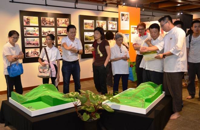 Devotees visiting the exhibition last Sunday.