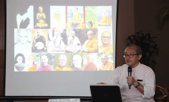 Bro. Ananda spoke about the qualities of the Sangha.