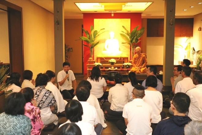 Bro. Tan expressing happiness and anumodana for Ayya's Dhamma sharing.