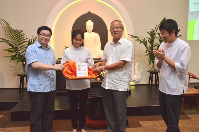 Launching Dr. Phang's latest book at Nalanda Centre.