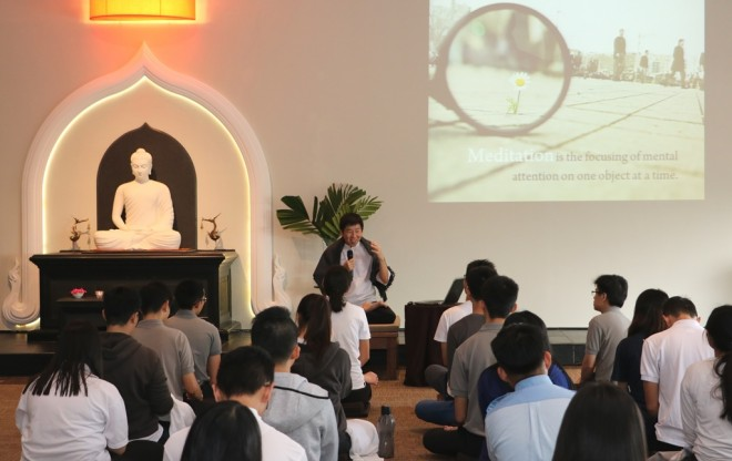 Bro. Tan gave six talks throughout the one-day retreat.