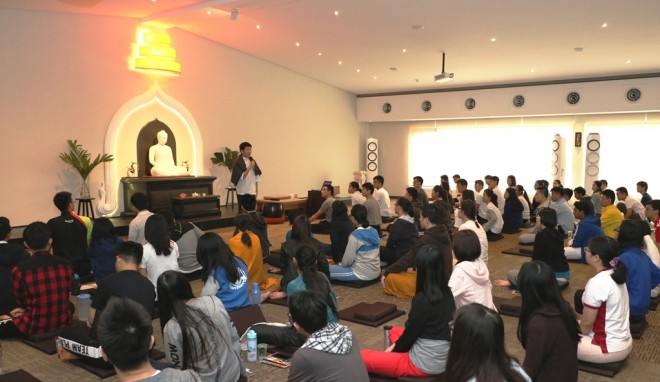 The meditation retreat received wonderful response from youths.