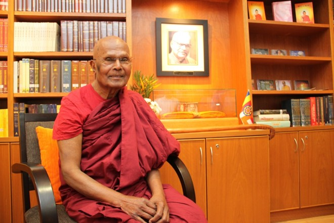 Ven. Gunaratana last visited Nalanda Centre in January 2016.