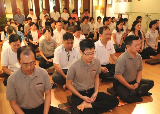 Meditation is an integral activity at Nalanda Centre every Sunday.