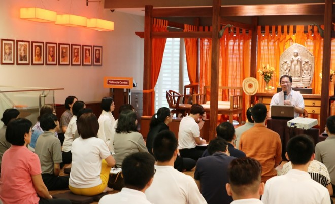 Bro. Tan Siang Chye gave a talk on the purpose and importance of Buddhist education.