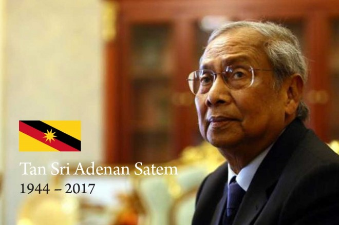 Tan Sri Adenan Satem (1944 - 2017).