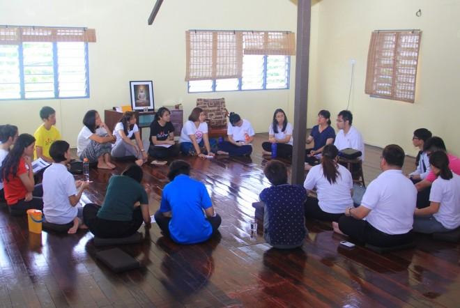 Facilitators enjoy group discussions.