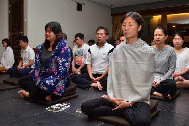 Nalanda Centre hosts group meditation sessions every Wednesday evening.