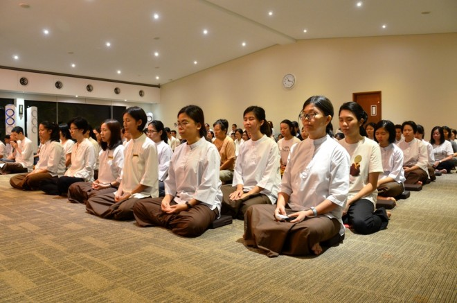 Instead of 'counting down' to the New Year, Nalandians 'calm down' with meditation and reflection.