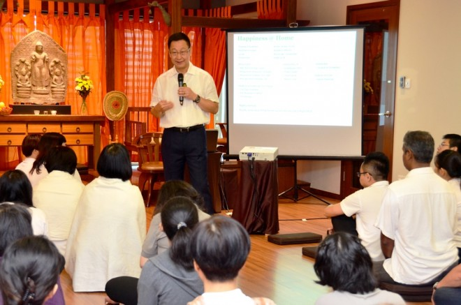 Datuk Charlie Chia was invited to present a talk themed 'Happiness at Home'.