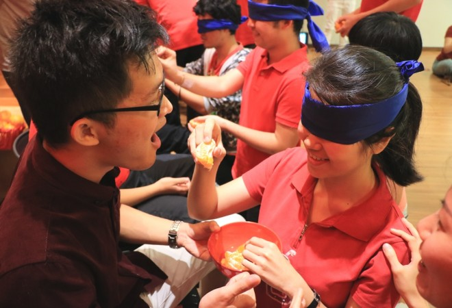 Ice-breaking games enlivened the gathering.