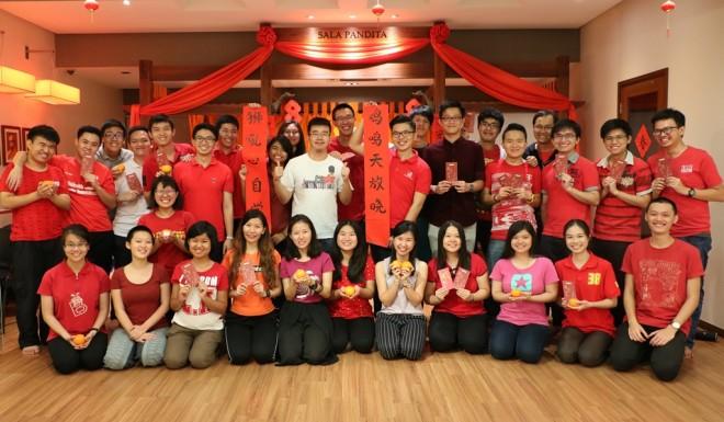 Lunar New Year gathering at Nalanda Youth Centre.