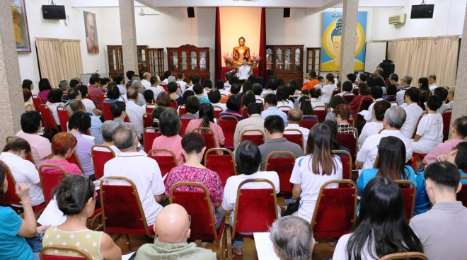 Bro. Tan's first session at the Buddhist Maha Vihara on 3 March 2017.