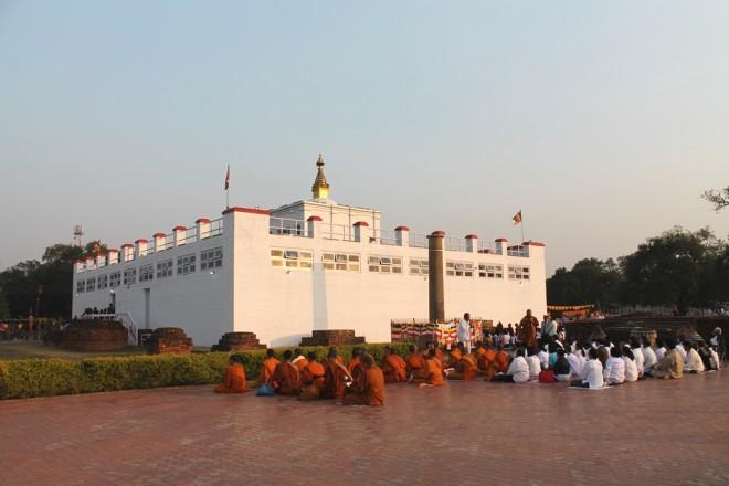 The sacred grounds of Lumbini.