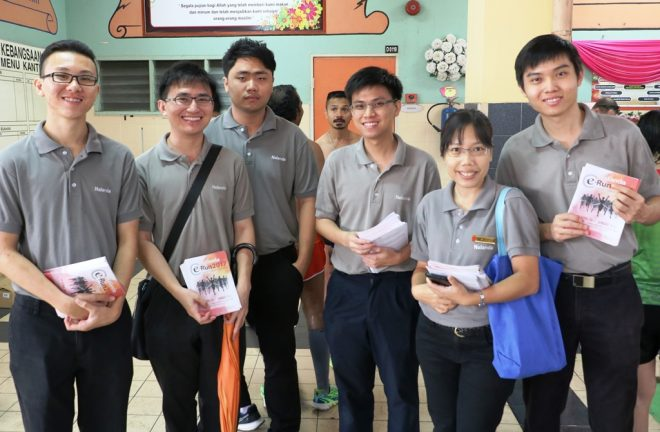 Nalandian youths campaigning for e-Run.