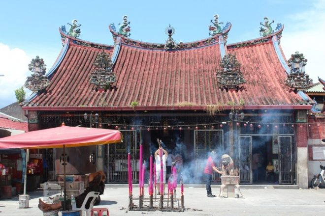 A typical Chinese temple.