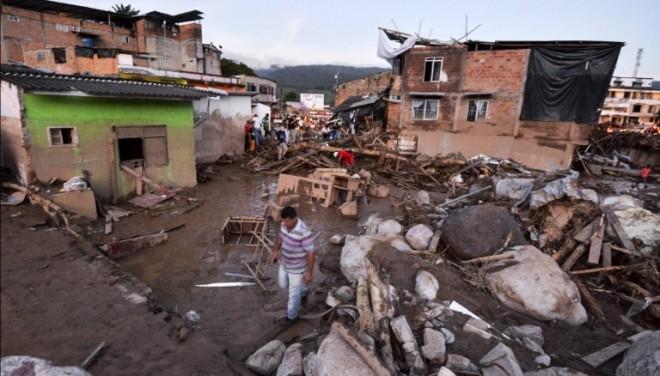 Colombia mudslide.