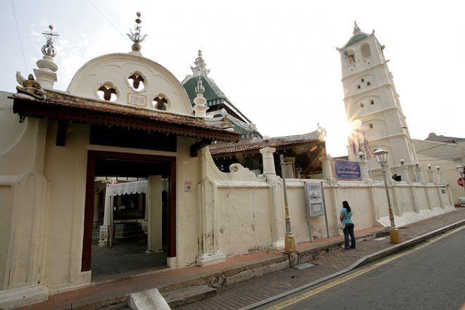 A mosque in Malacca City.