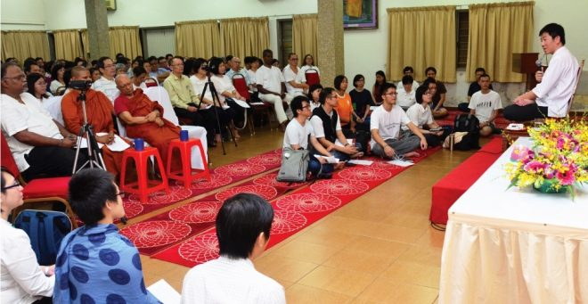 Previous session of the 'Dhammapada' teaching in March.
