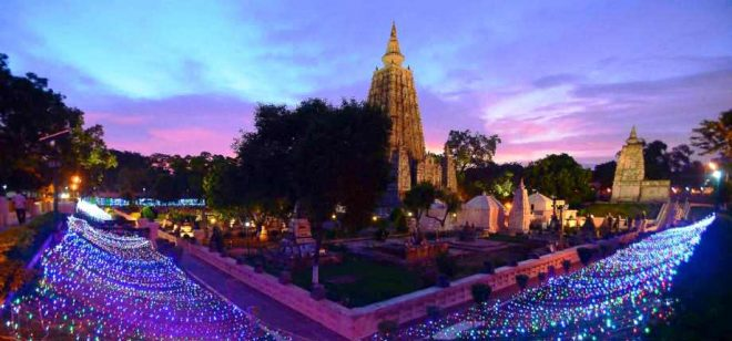 The hallowed grounds of Mahabodhi Vihara.