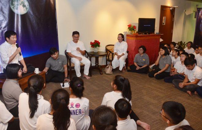 Nalanda founder Bro. Tan launching the annual 'Buddha Jayanti' Exhibition.