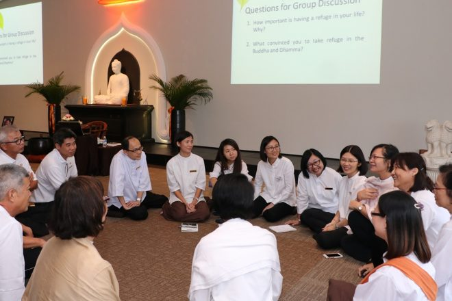 Discussions on Dhamma to consolidate our learning.