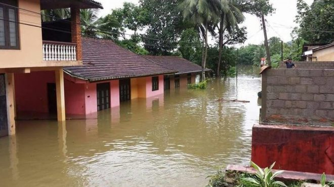 The floods are affecting half a million people mainly on the west coast of Sri Lanka.