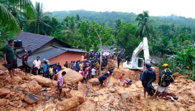 The monsoon rains have also triggered deadly mudslide.
