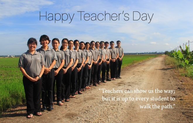 Let us honour our teachers with thoughts of loving kindness and gratitude.