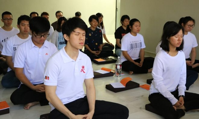 Youths are encouraged to meditate often.