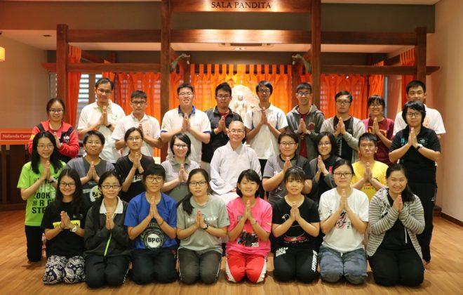 PBUM members with Ven. Ji Chi after her talk at Nalanda Centre.