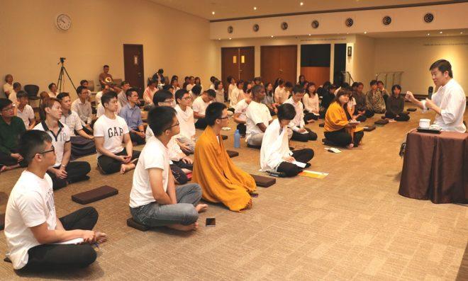 Nalanda founder Bro. Tan teaching Dhamma every Wednesday.